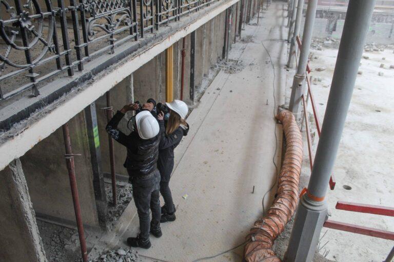 3QA sur le chantier de la piscine d'Ixelles